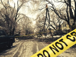 Toronto ice storm damage