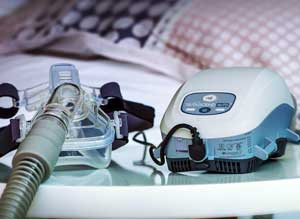Newer model CPAP machine for sleep apnea treatment