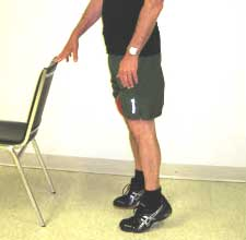 exercise for seniors - heel raises using a chair