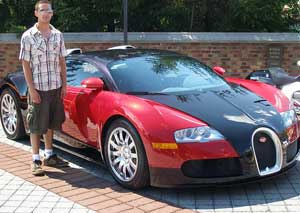 One grandson. One gorgeous Bugatti. Concours of America, 2008.