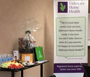 Gift basket and just a few of the goodies provided by Eldercare Home Health at the North York General Hospital Social Work Clinic Day 2017