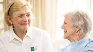 Home care caregiver with client