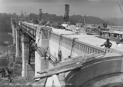 Photo: Bloor Street Viaduct under construction, looking east, July 18, 1917