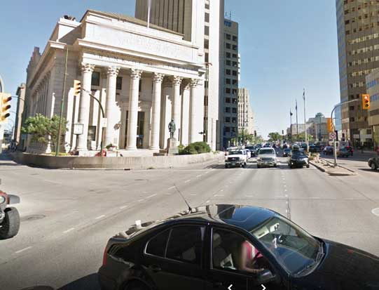 Bank of Montreal, Main and Portage. Photo courtesy Google Street View
