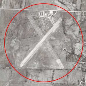 Buttonville Airport 1960 aerial photo