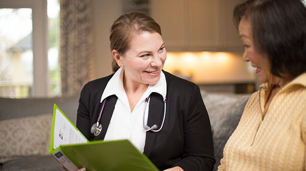 Senior receiving assessment by a Registered Nurse