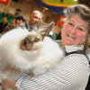 woman holding rabbit at the royal agricultural winter fair