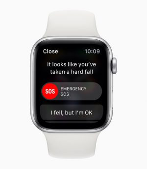 Apple Watch series 4 fall detection and alert