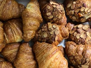 Farmer's market for seniors - almond croissants